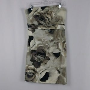 New York & CO. floral cocktail dress women size 12